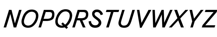 Bookvar Italic Font UPPERCASE