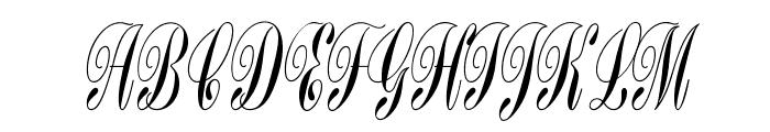 BordenFiveScriptOpti Font UPPERCASE