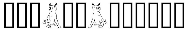 Border Cats Font UPPERCASE