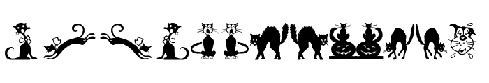 Border Cats Font LOWERCASE