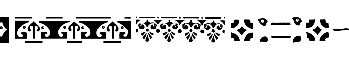 BorderElements Font LOWERCASE