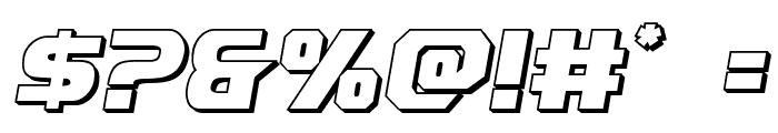 Borgsquad 3D Font OTHER CHARS