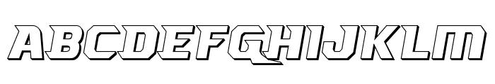 Borgsquad 3D Font UPPERCASE