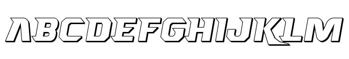 Borgsquad 3D Font LOWERCASE