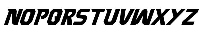 Borgsquad Condensed Italic Font UPPERCASE