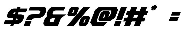 Borgsquad Italic Font OTHER CHARS