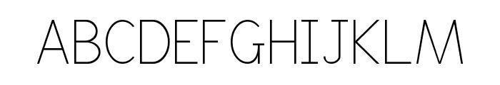 Boring Boring Font UPPERCASE