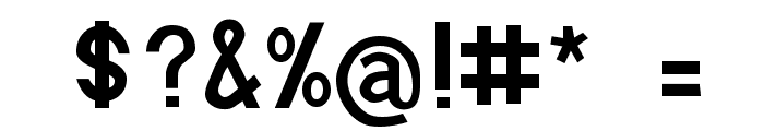 Boring Boron Font OTHER CHARS