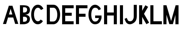 Boring Boron Font UPPERCASE
