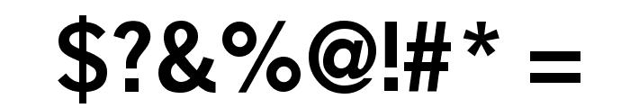 BoringSansBold Font OTHER CHARS