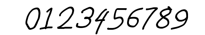 Bork Bork Oblique Font OTHER CHARS