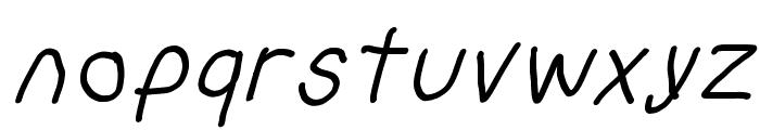Bork Bork Oblique Font LOWERCASE