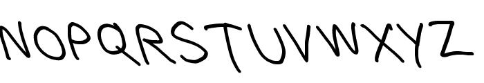 Bork Bork Opposite Oblique Font UPPERCASE