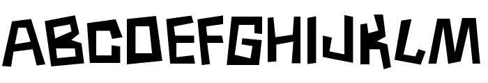 Borneo Font UPPERCASE