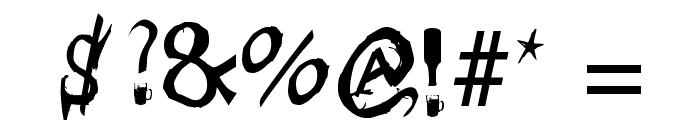 Borracho Font OTHER CHARS
