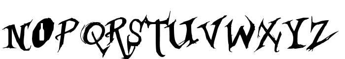 Borracho Font LOWERCASE