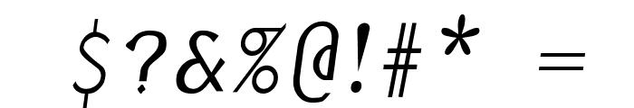 Borzoi Italic Font OTHER CHARS