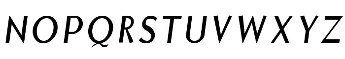 Borzoi Italic Font UPPERCASE