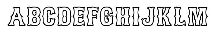 Bosox Outline Heavy Font UPPERCASE