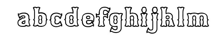 Bosox Outline Heavy Font LOWERCASE