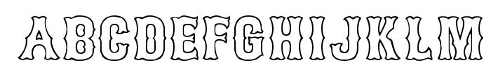 Bosox Outline Font UPPERCASE