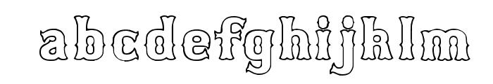 Bosox Outline Font LOWERCASE