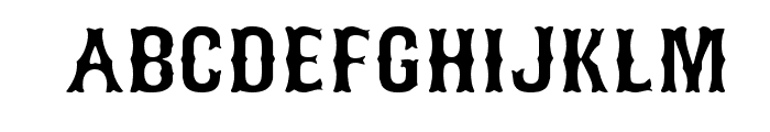 Bosox Font UPPERCASE