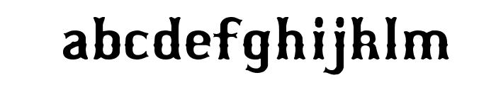 Bosox Font LOWERCASE