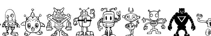Bots'n Droids Font UPPERCASE