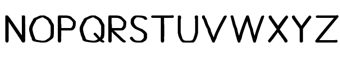 Bou Handwriting Titling Font LOWERCASE