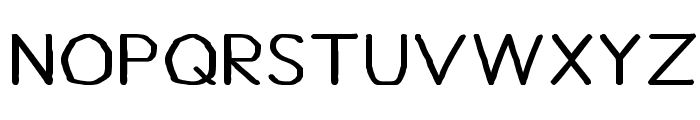 Bou Handwriting Font UPPERCASE