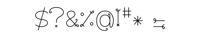BouclettesDemo Medium Font OTHER CHARS