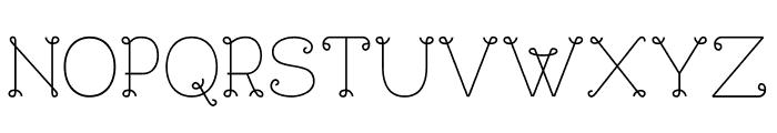 BouclettesDemo Medium Font UPPERCASE