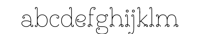 BouclettesDemo Medium Font LOWERCASE
