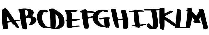 BoulderRough Font UPPERCASE