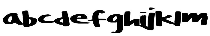 BoulderRough Font LOWERCASE