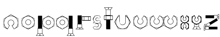 Boulons Tryout Font LOWERCASE