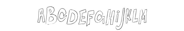 BouncingontheWalls-Regular Font UPPERCASE