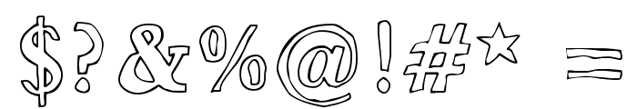 Bounty Font OTHER CHARS