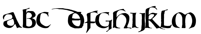 Bouwsma Uncial Font UPPERCASE