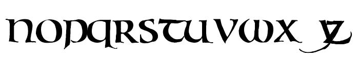 Bouwsma Uncial Font LOWERCASE