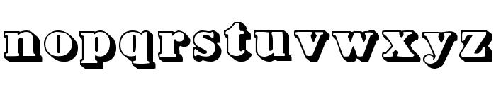 BowersShadow Font LOWERCASE