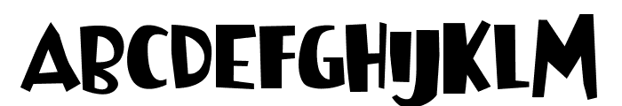 Bowreghul Font UPPERCASE