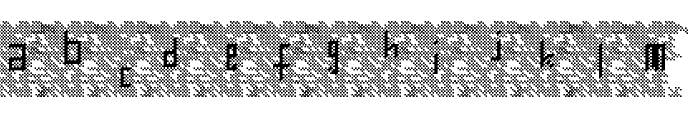 Bowser Rampages Again Regular Font LOWERCASE
