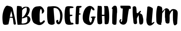 boba Font UPPERCASE