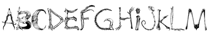 bones and chimeras Font LOWERCASE