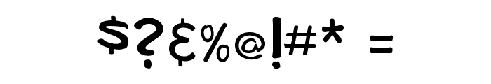 bosil unique Regular Font OTHER CHARS