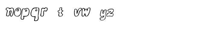 Bobolha Italic Font LOWERCASE