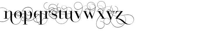 Bodoni Classic D Font LOWERCASE