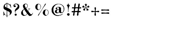 Bodoni Classic Hand Bold Font OTHER CHARS